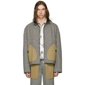 ロエベ Loewe メンズ ジャケット アウター【black & white houndstooth patch pockets jacket】