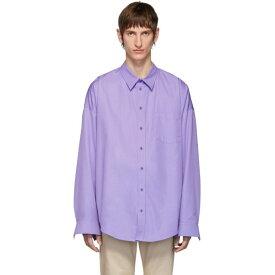 バレンシアガ Balenciaga メンズ シャツ トップス【purple cocoon shirt】