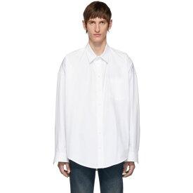 バレンシアガ Balenciaga メンズ シャツ トップス【white cocoon shirt】