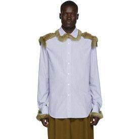 ロエベ Loewe メンズ シャツ シアリング トップス【blue shearling trim shirt】