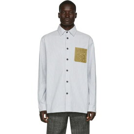 ロエベ Loewe メンズ シャツ トップス【white & blue stripe shirt】