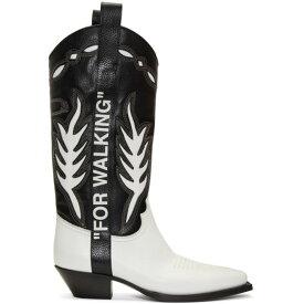 オフホワイト Off-White メンズ ブーツ カウボーイブーツ シューズ・靴【black & white cowboy boots】