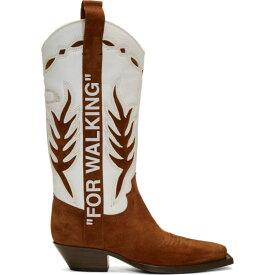 オフホワイト Off-White メンズ ブーツ カウボーイブーツ シューズ・靴【brown & white cowboy boots】