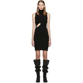 メゾン マルジェラ MM6 Maison Margiela レディース ワンピース スリットワンピース ワンピース・ドレス【Black Slit Turtleneck Dress】