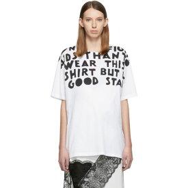 メゾン マルジェラ Maison Margiela レディース Tシャツ トップス【White AIDS Charity Print T-Shirt】