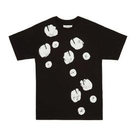 メゾン マルジェラ Maison Margiela レディース Tシャツ トップス【SSENSE Exclusive Black Tabi Print T-Shirt】
