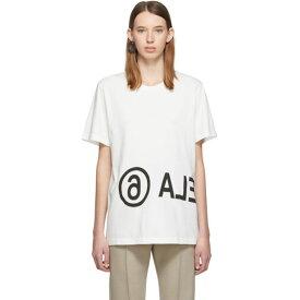 メゾン マルジェラ MM6 Maison Margiela レディース Tシャツ トップス【Off-White Oversized Logo T-Shirt】