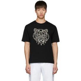 ケンゾー Kenzo メンズ Tシャツ トップス【Black Blanket Stitch Tiger T-Shirt】
