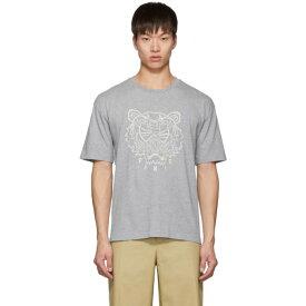 ケンゾー Kenzo メンズ Tシャツ トップス【Grey Blanket Stitch Tiger T-Shirt】