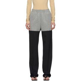 メゾン マルジェラ MM6 Maison Margiela レディース スウェット・ジャージ ボトムス・パンツ【Grey & Navy Hybrid Lounge Pants】
