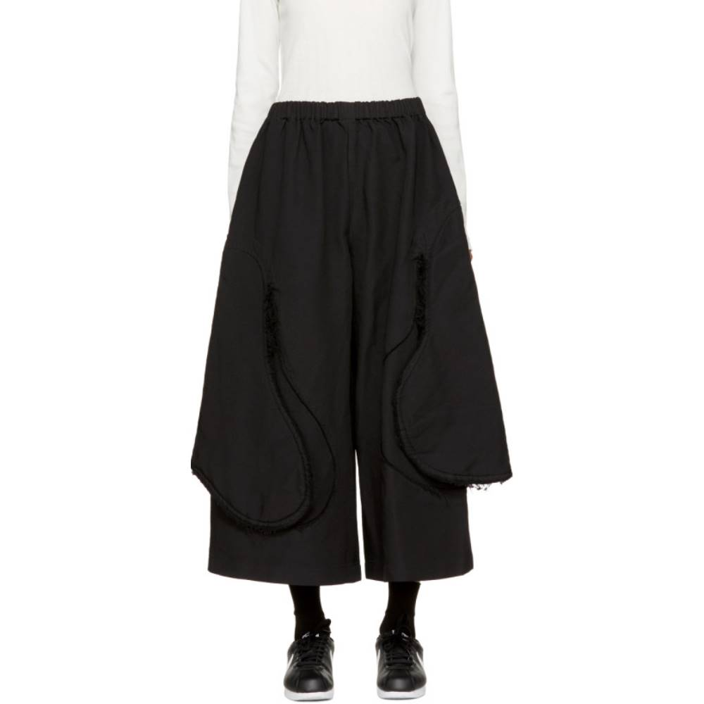 コム デ ギャルソン レディース ボトムス・パンツ【Black Cut-Away Trousers】