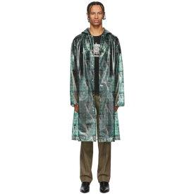 アンダーカバー Undercover メンズ レインコート アウター【Green Valentino Edition Printed Long Rain Coat】