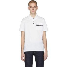ヴェルサーチ Versace メンズ ポロシャツ トップス【White Pocket Logo Polo】