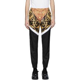 ヴェルサーチ Versace メンズ スウェット・ジャージ ボトムス・パンツ【Black & White Barocco Track Pants】