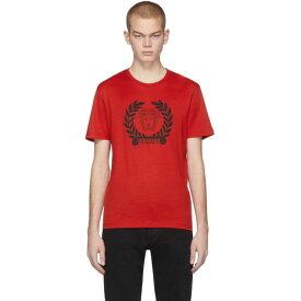 ヴェルサーチ Versace メンズ Tシャツ トップス【Red Medusa Laurel T-Shirt】