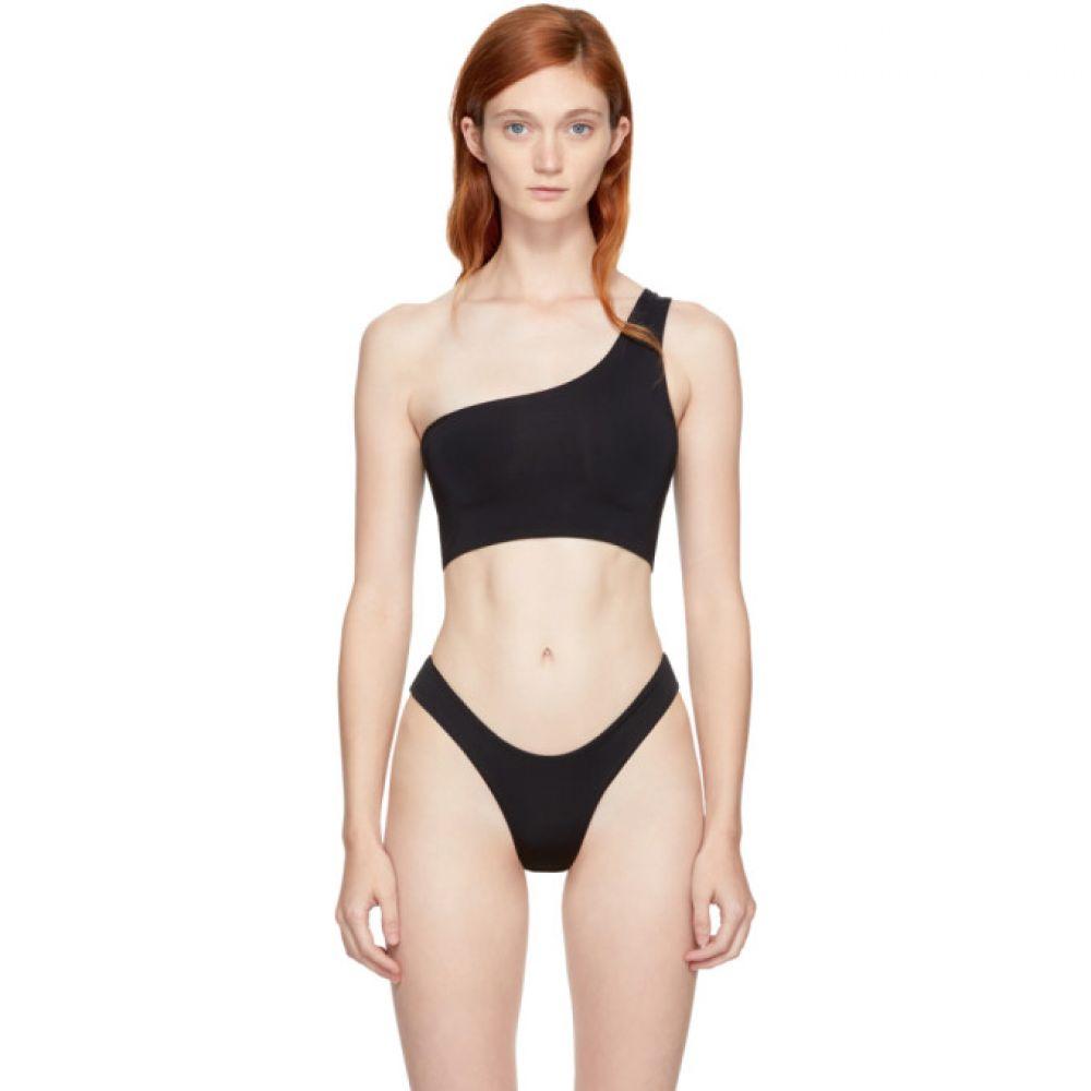 マイラスイム レディース 水着・ビーチウェア トップのみ【Black Ford Single-Shoulder Bikini Top】