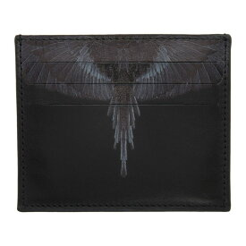 マルセロバーロン Marcelo Burlon County of Milan メンズ カードケース・名刺入れ カードホルダー【Black & Grey Wings Card Holder】Black
