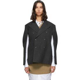 メゾン マルジェラ Maison Margiela レディース スーツ・ジャケット アウター【Grey Wool Double-Breasted Blazer】Anthracite