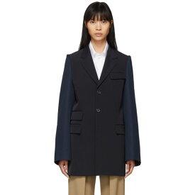 メゾン マルジェラ Maison Margiela レディース スーツ・ジャケット アウター【Navy & Blue Gabardine Blazer】Blue