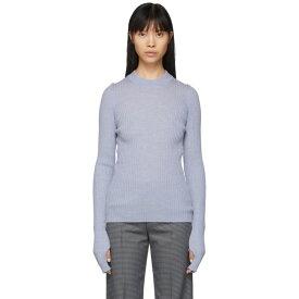 メゾン マルジェラ Maison Margiela レディース ニット・セーター トップス【Blue Wool Gauge 14 Sweater】Baby blue