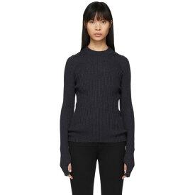 メゾン マルジェラ Maison Margiela レディース ニット・セーター トップス【Blue Wool Gauge 14 Sweater】Dark blue