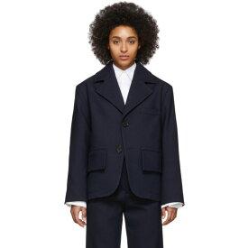 メゾン マルジェラ MM6 Maison Margiela レディース スーツ・ジャケット アウター【Navy Oversized Blazer】Blue navy
