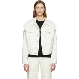 メゾン マルジェラ MM6 Maison Margiela レディース ジャケット アウター【Off-White Denim Arm Cut Outs Jackets】Off-white