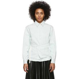 メゾン マルジェラ MM6 Maison Margiela レディース ブラウス・シャツ デニム トップス【Off-White Denim Crossover Apron Shirt】Light casting