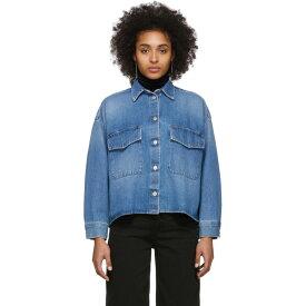 メゾン マルジェラ MM6 Maison Margiela レディース ブラウス・シャツ デニム トップス【Blue Denim Double Pocket Shirt】Blue