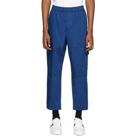ケンゾー Kenzo メンズ カーゴパンツ ボトムス・パンツ【Blue Gabardine Cargo Pants】Navy blue