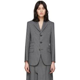 メゾン マルジェラ Maison Margiela レディース スーツ・ジャケット アウター【Black & Grey Double Pocket Blazer】Pied de poule