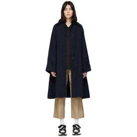 メゾン マルジェラ MM6 Maison Margiela レディース トレンチコート アウター【Navy Wool Trench Coat】Blue navy