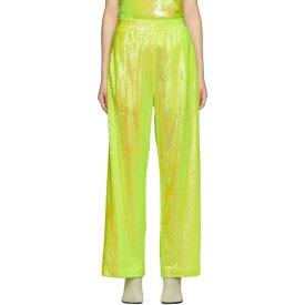 メゾン マルジェラ MM6 Maison Margiela レディース ボトムス・パンツ 【Yellow Sequin Flare Lounge Pants】Yellow