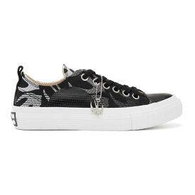 アレキサンダー マックイーン McQ Alexander McQueen レディース スニーカー シューズ・靴【Black Swallow Plimsoll Sneakers】Black/White