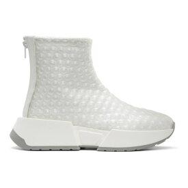 メゾン マルジェラ MM6 Maison Margiela レディース スニーカー シューズ・靴【White Bubble Wrap Sneakers】Transparent