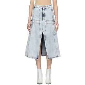 メゾン マルジェラ MM6 Maison Margiela レディース ひざ丈スカート デニム スカート【Blue Denim A-Line Cargo Skirt】Blue 80's