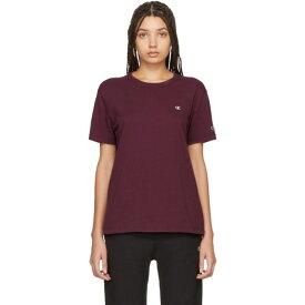 チャンピオン Champion Reverse Weave レディース Tシャツ トップス【Burgundy Logo T-Shirt】Burgundy