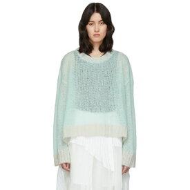 メゾン マルジェラ Maison Margiela レディース ニット・セーター トップス【Green Transparent Crewneck Sweater】Light green