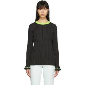 メゾン マルジェラ MM6 Maison Margiela レディース ニット・セーター トップス【Grey Contrast Neck Sweater】Dark grey