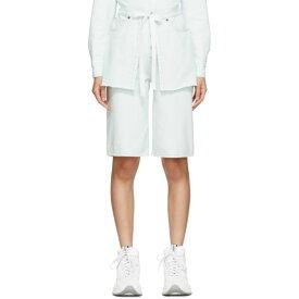 メゾン マルジェラ MM6 Maison Margiela レディース ショートパンツ デニム ボトムス・パンツ【Blue Denim Side Flap Apron Shorts】Light cast