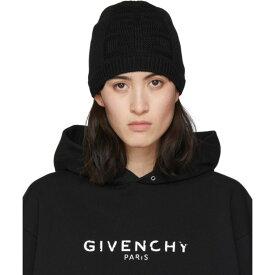 ジバンシー Givenchy レディース ニット ビーニー 帽子【Black Knit 4G Beanie】Black