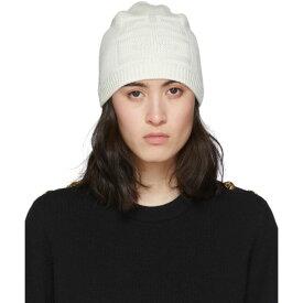 ジバンシー Givenchy レディース ニット ビーニー 帽子【White Knit 4G Beanie】White