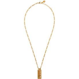 ヴェルサーチ Versace メンズ ネックレス ジュエリー・アクセサリー【Gold Logo Necklace】Gold