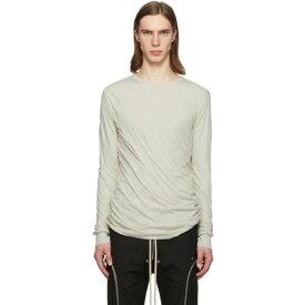 リック オウエンス Rick Owens メンズ 長袖Tシャツ トップス【Off-White Double Long Sleeve T-Shirt】Pearl
