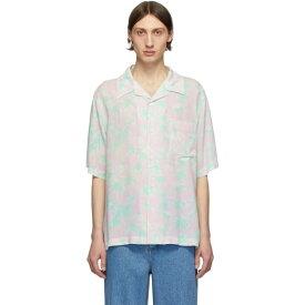 ロエベ Loewe メンズ ボウリング ボーリングシャツ トップス【Pink & Green Daisy Bowling Shirt】Pink/Light green