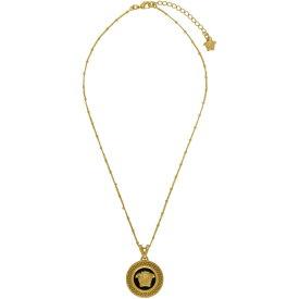 ヴェルサーチ Versace レディース ネックレス メデューサ ジュエリー・アクセサリー【Black & Gold Medusa Pendant Necklace】Black