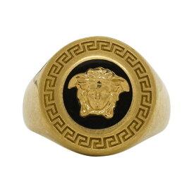 ヴェルサーチ Versace レディース 指輪・リング メデューサ ジュエリー・アクセサリー【Black & Gold Medusa Medallion Ring】Black
