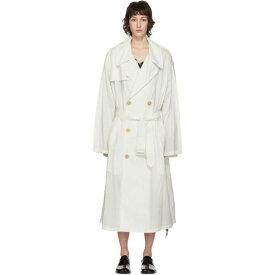 メゾン マルジェラ Maison Margiela レディース トレンチコート アウター【Off-White Recycled Nylon Trench Coat】Off-White