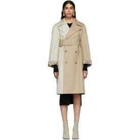メゾン マルジェラ MM6 Maison Margiela レディース トレンチコート アウター【Beige Two-Tone Trench Coat】Beige