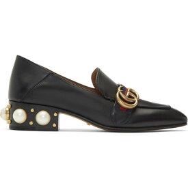 グッチ Gucci レディース ローファー・オックスフォード シューズ・靴【Black Peyton Pearl Loafers】Black